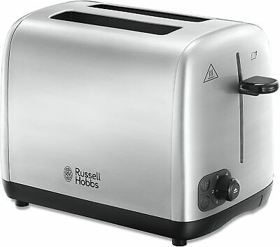 Russell Hobbs 2 Slice Compact Toaster Brushed Stainless Steel - 24081