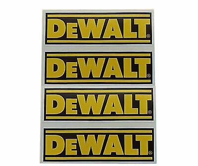 Set of Dewalt Stickers For Tools Toolbox Van Car Sticker Bomb 100x30mm x4