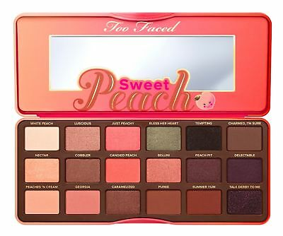 Too Faced Sweet Peach Eyeshadow Palette Cosmetic Makeup 18 Shades fast (Sweet Peach)