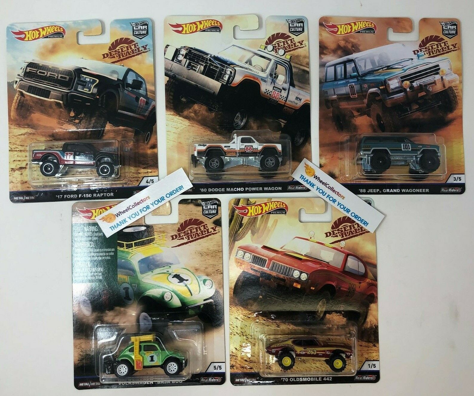 5 Car Set * 2019 Hot Wheels DESERT RALLY Car Culture Case K * IN STOCK