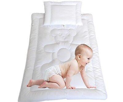 Babyset Bett Bärchen Bettdecke Baby Kinder Set Steppbett+Kissen 100x135/40x60cm