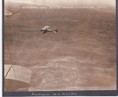Original WW1 Photo Royal Flying Corps Martinsyde G.100 in flight Palestine 1918