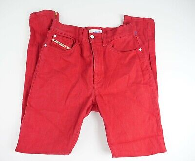 Diesel Red Sample Jeans Women's Made in Italy Tag Sz 26 Y424