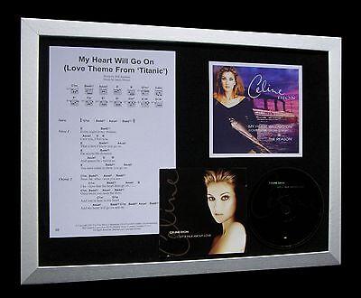 CELINE DION My Heart Will Go On LTD CD FRAMED DISPLAY+EXPRESS GLOBAL SHIP