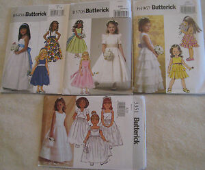 Butterick-Flower-Girl-Dress-Pattern-Gown-Formal-First-Communion-Princess-Party