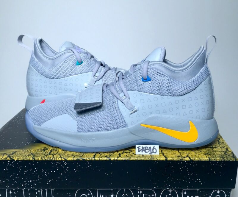 5833bc47edbd ... Nike PG 2.5 PlayStation Paul George PS4 Classic Wolf Grey Mens   Kids  GS ...