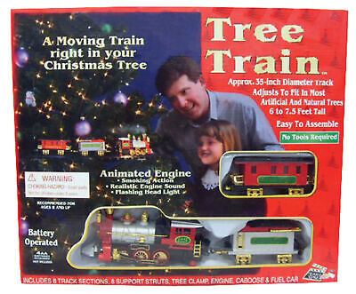 CHRISTMAS TREE TRAIN SET Decoration INDOOR ANIMATED Train In Tree New