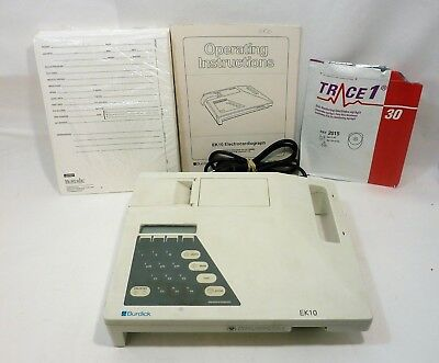 Burdick Ek10 Electrocardiograph Ekg Ecg Recording Machine