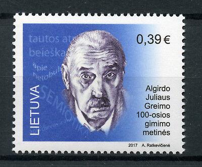 Lithuania 2017 MNH Algirdas Julien Julius Greimas 1v Set Science Stamps