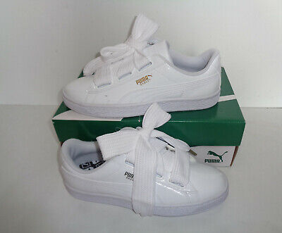 PUMA Basket Heart Ladies White Classic Trainers Womens Shoes RRP £80 New Size 5