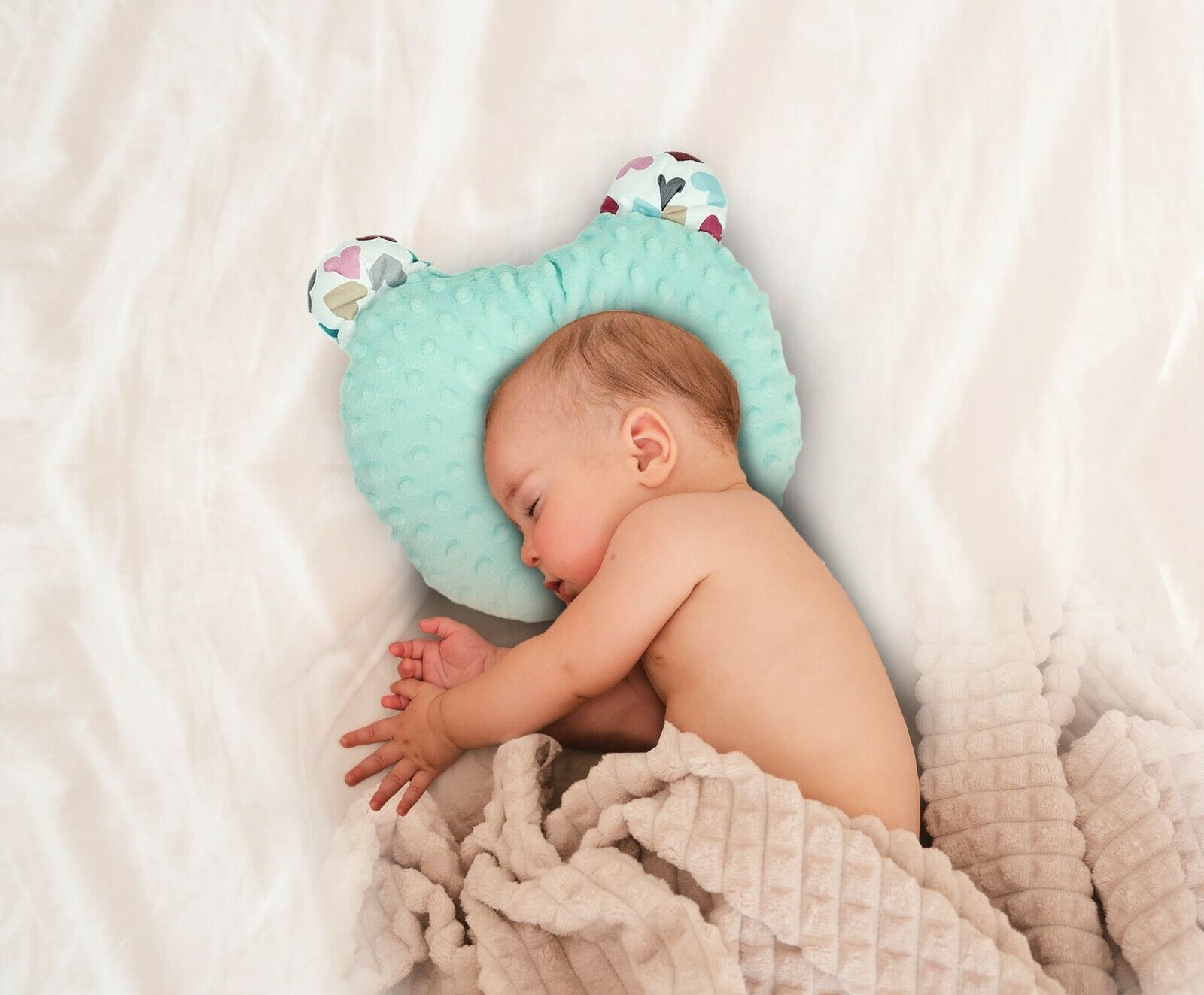 RS-Italy Cuscino Neonato Plagiocefalia Antireflusso Antisoffoco Traspirante