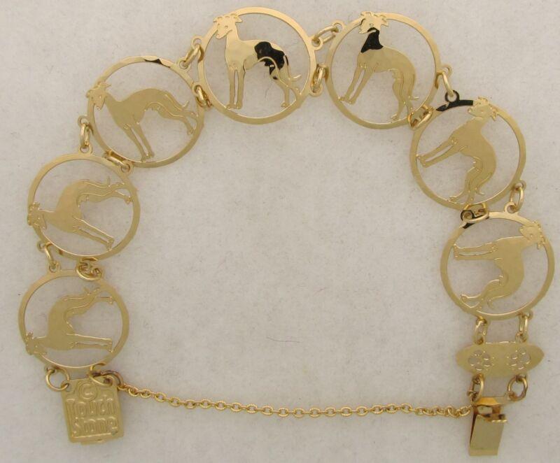 Italian Greyhound Jewelry Gold Bracelet by Touchstone