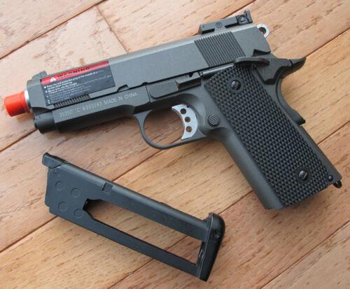 Full Metal CO2 Blowback Airsoft Gun Compact 1911 G193 Gun Metal Color
