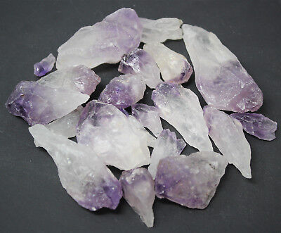 Wholesale CLEARANCE Amethyst Crystal Points, 500 Carat Lot Natural Rough Quartz ()