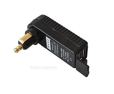 USB Winkeladapter Motorrad Bordstecker für kleine Bordsteckdose DIN4165 12V/24V