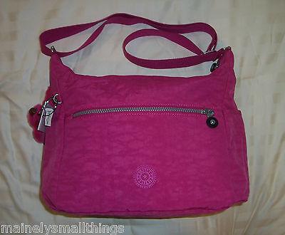 NWT Kipling ALENYA Medium Shoulder Crossbody Bag VERY BERRY PINK HB6628