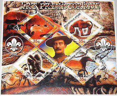 HAITI 2005 unlisted pre-historic Art prehistorische Kunst Boy Scouts Pfadfinder