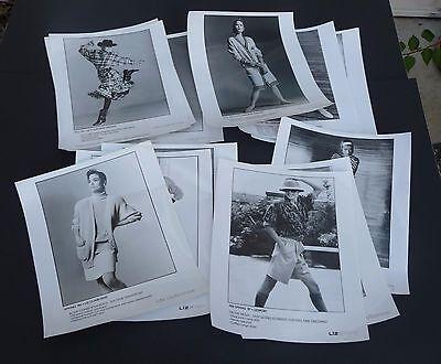 Vtg lot of 12 LIZ CLAIBORNE press promo model fashion photos 8x10 1985 '86 '87
