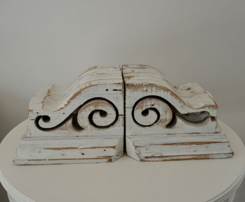 Vintage Antique Pair of  Architectural Salvage Corbels