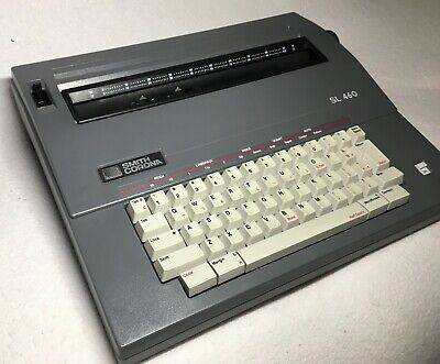 Smith Corona Sl460 Portable Electric Typewriter W Cover Tested Works Needs Ink