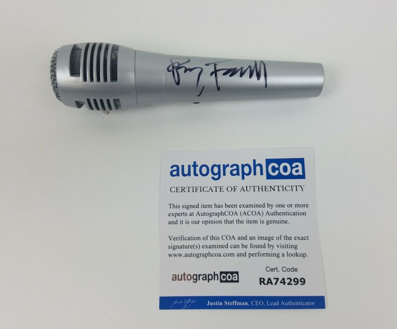 Perry Farrell Autographed Signed Microphone Jane's Addiction ACOA