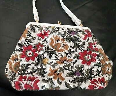 1950s Handbags, Purses, and Evening Bag Styles Genuine vintage 1950's tapestry bag kiss lock Maid Marion great condition $27.11 AT vintagedancer.com