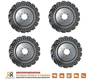 Skids Steer Loader Solid Tires X 4 No Flat 10x16.5 - Bobcat Cat Case 31x10-20