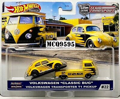 HOT WHEELS 2020 CAR CULTURE TEAM TRANSPORT VW CLASSIC BUG/ TRANSPORTER T2 PICKUP