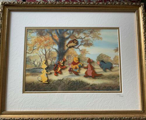 Disney Winnie the Pooh and Friends Eeyore Tigger Owl Kanga Framed LE500 Pin Set