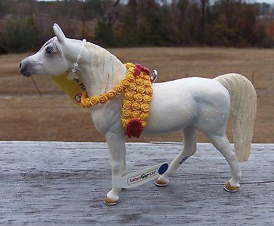 Custom Made Safari Arabian Mare Horse Christmas Holiday Ornament Pony Roses
