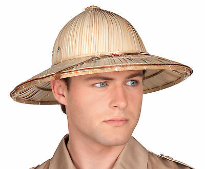 Mens British Army Safari Jungle Pith Helmet Fancy Dress Costume Hard Sun Hat NEW - British Army Costume