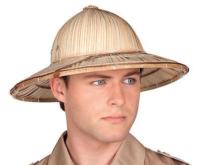 Tropenhelm Safari Kostüm (Herren Britische Armee Safari Dschungel Tropen- Helm Maskenkostüm Hart Sommerhut)