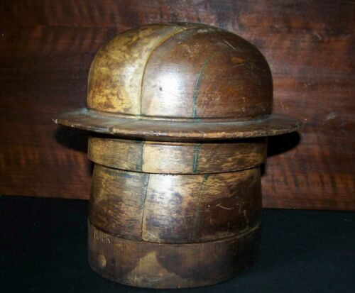 Vintage Puzzle Wooden Hat Mold (22 inch)