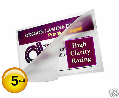 200 Hot 5 Mil Mini Letter Laminating Pouches 8-34 X 11-14 Clear