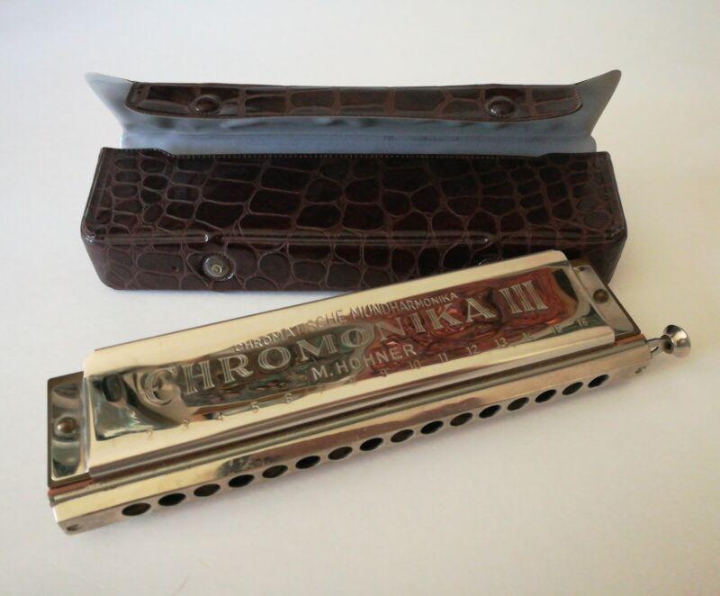 VINTAGE M. HOHNER 280-C Chromonika III Harmonica-Made in Germany