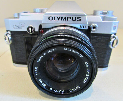 Vintage Olympus OMF 1:1.8 35mm Film  Camera Japan Zuiko 50mm Lens
