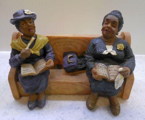 U.T.I Two Beautiful Black African American Ladies Sitting In A Church Pew.
