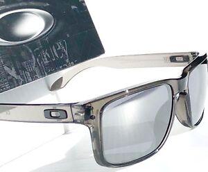 NEW* Oakley HOLBROOK Grey Smoke Clear w Black Iridium Sunglass  9102 -24