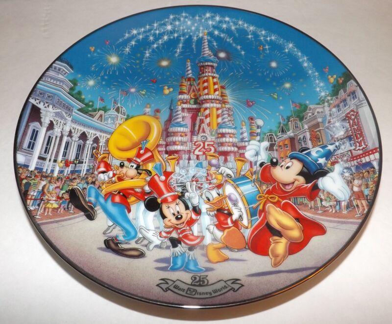 Disney A Birthday Celebration 25th Anniversary Limited Edition Plate Bradford