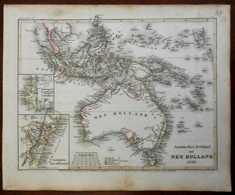 Australia Southeast Asia Indonesia Malaysia Papua New Guinea 1849 Meyer map