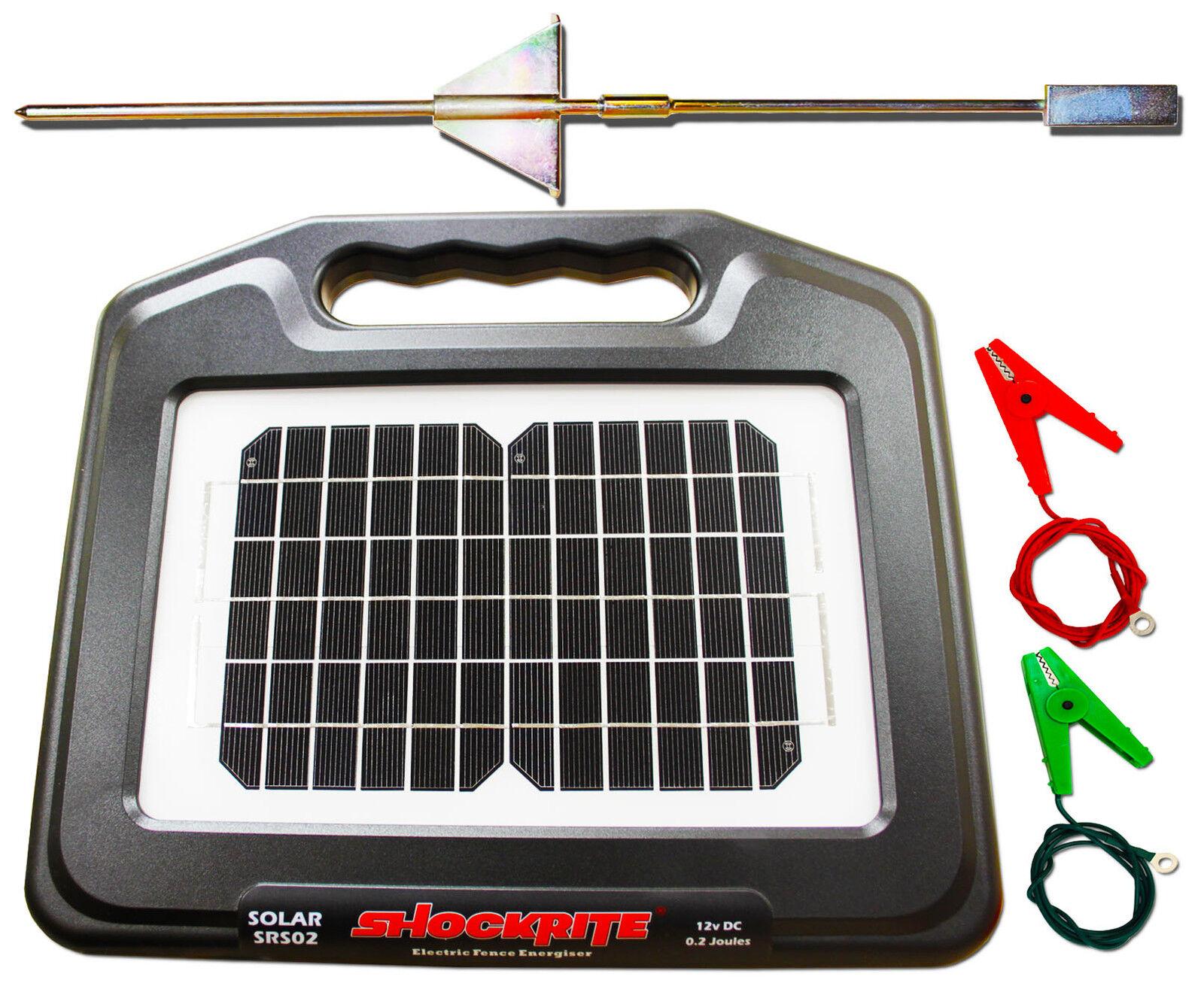 solar electric fence energiser shockrite srs02 0 2j fencing fencer