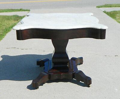 Mahogany Center Table (Mahogany Empire Center Table White Marble )