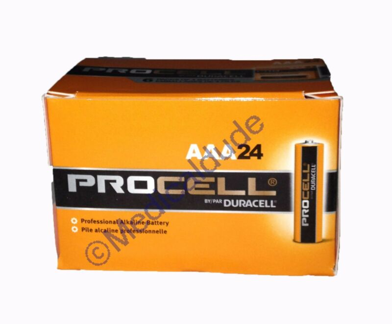 NEW DURACELL PROCELL AAA ALKALINE BATTERIES 24 (1 BOX of 24) EXP 5+ YRS