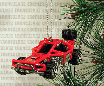 OFF-ROAD DUNE BUGGY RED BLACK CHRISTMAS ORNAMENT XMAS