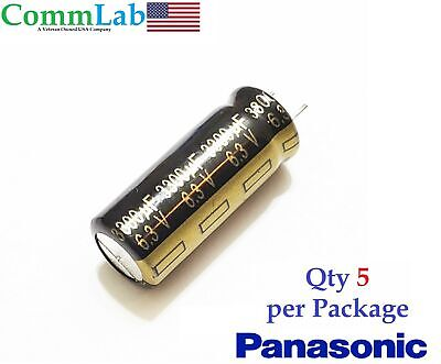 3300uf 6.3v Bm Electrolytic Radial Lead Capacitor By Panasonic 5 Pieces