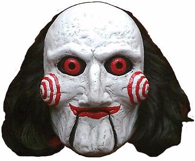 Mens Ladies Deluxe Billy SAW Scary Halloween Fancy Dress Costume Outfit Mask (Saw Halloween Outfits)