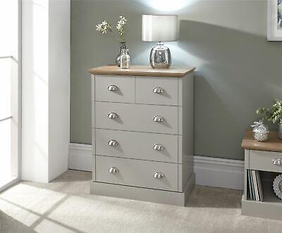 Kendal 2 + 3 Drawer Chest Bedroom Furniture Grey