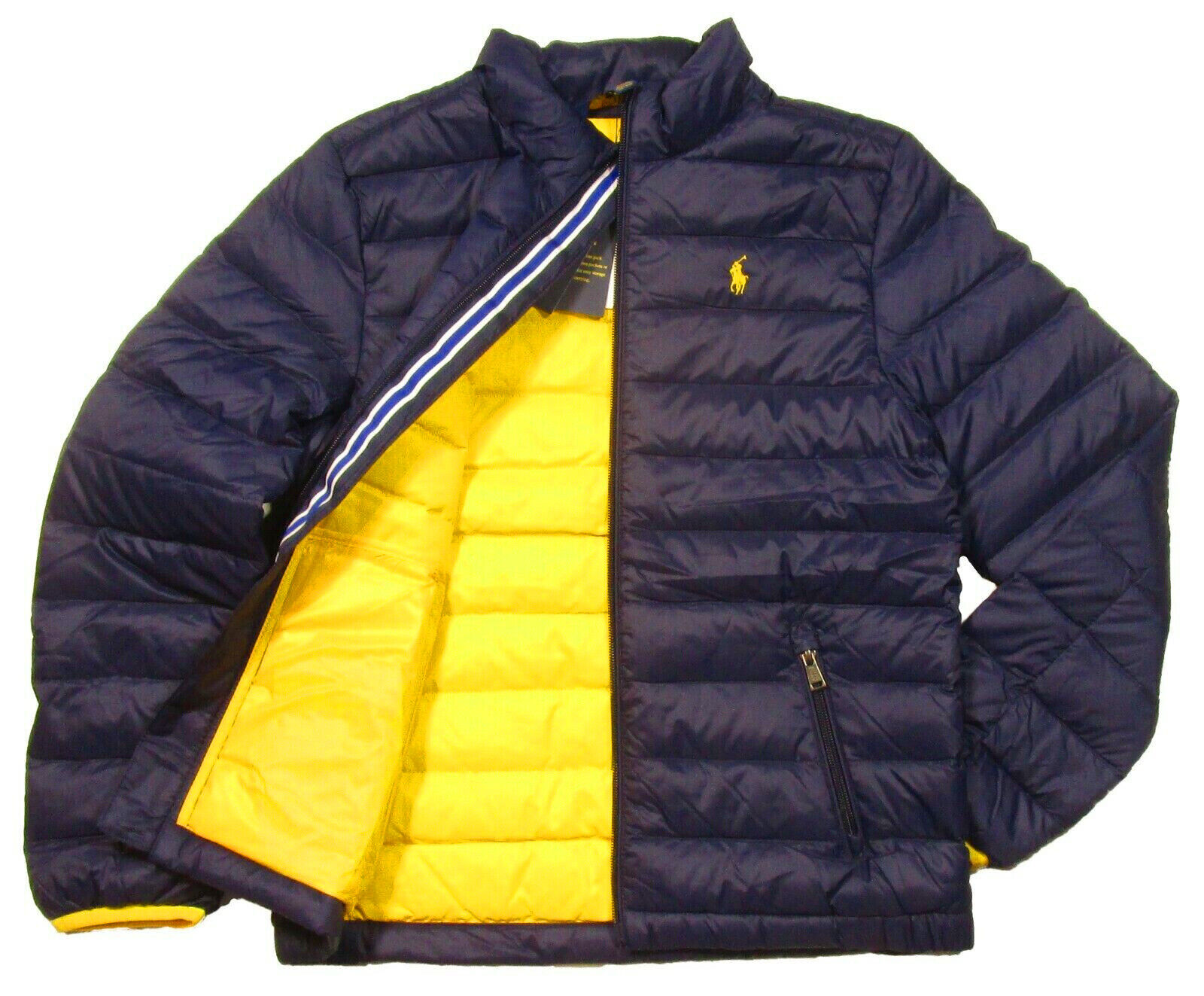 Polo RALPH LAUREN Boys Jacket Quilted Coat Size 2 2T 3 3T Navy Blue