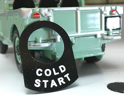 Land Rover Series 1 2 2a 2b Metal Switch Tab Label Badge Cold Start 560411 Choke