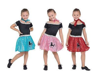 Kinder 1950s Jahre Style Mädchen Paillette Pudel Kostüm Kleid Buch Woche (Pudel Kleid Kostüm Kinder)